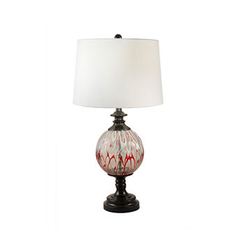 Dale Tiffany Thurston Hand Blown Art Glass Crystal Table Lamp