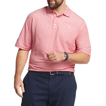 IZOD Mens Cooling Short Sleeve Polo Shirt - Big and Tall