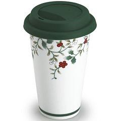 Pfaltzgraff® Winterberry Porcelain Travel Mug with Lid