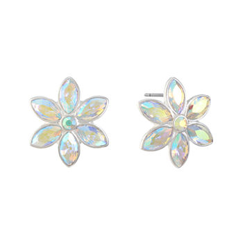 Liz Claiborne White 22mm Flower Stud Earrings