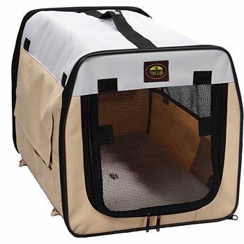 The Pet Life Folding Zippered Lightweight Easy Folding Pet Crate