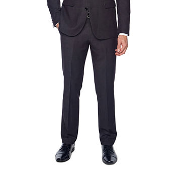 JF J.Ferrar 360 Stretch Black Geo Birdseye Slim Fit Suit Pants