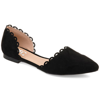 Journee Collection Womens Jezlin Slip-on Pointed Toe Ballet Flats