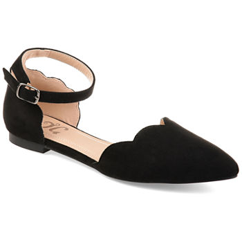 Journee Collection Womens Lana Ballet Flats Buckle Pointed Toe