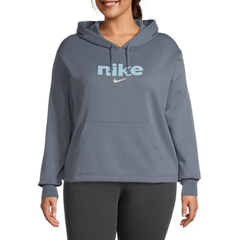 Nike Womens Plus Hooded Neck Long Sleeve Hoodie
