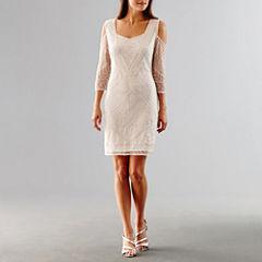 Msk Cold Shoulder Sequin Wedding Dress