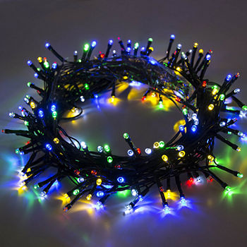 Aleko Solar Ed 100 Led Holiday Christmas Party String Lights Lot Of 4