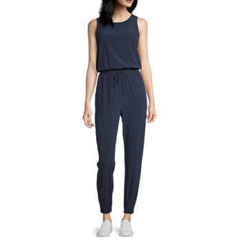 Stylus Zip Back Jogger Sleeveless Jumpsuit