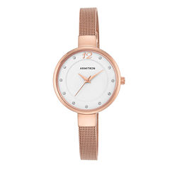 Armitron Now Womens Rose Goldtone Watch Boxed Set-75/5465wtrg