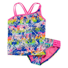 Breaking Waves Girls Tankini Set - Big Kid