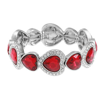 Monet Jewelry Heart Stretch Bracelet