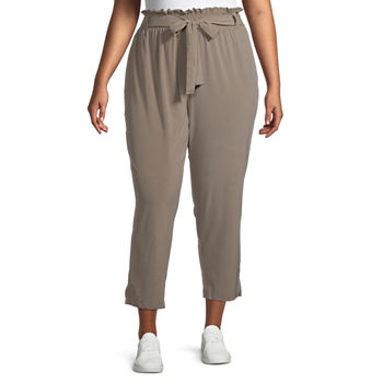 Stylus-Plus Paperbag Waist Loose Fit Tapered Trouser