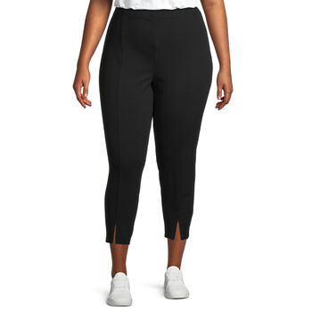 Stylus-Plus Womens High Rise Ankle Pull-On Pants