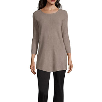 59b91706c8b CLEARANCE 3 4 Sleeve Sweaters   Cardigans for Women - JCPenney