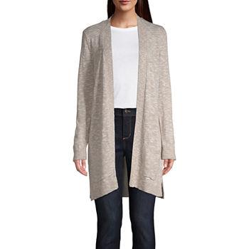 fe69ea3c88d5c St. John s Bay Womens Scoop Neck Long Sleeve Stripe Pullover Sweater. Add To  Cart. New. Khaki Porcelain Ma