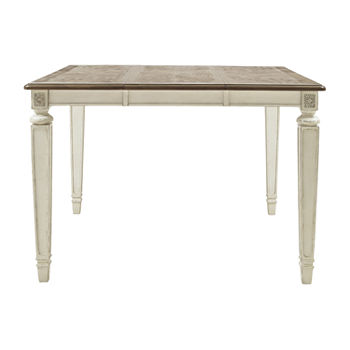 Signature Design by Ashley Realyn Dining Collection Square Wood-Top Dining Table