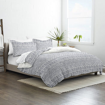 Casual Comfort Modern Rustic 3pc Hypoallergenic Reversible Duvet Cover Set