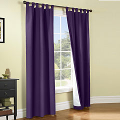 Weathermate 2-Pack Room-Darkening Tab-Top Curtain Panels