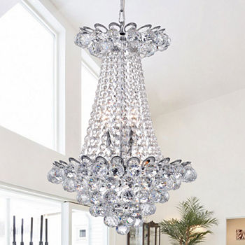 Chandeliers jcpenney avril chrome finish 55 inch crystal chandelier aloadofball Image collections