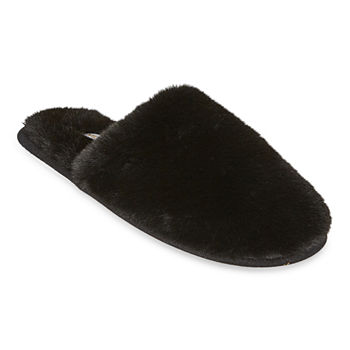 Mixit Faux Fur Womens Slip-On Slippers