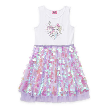 Jojo Siwa Little & Big Girls Sleeveless Tutu Dress