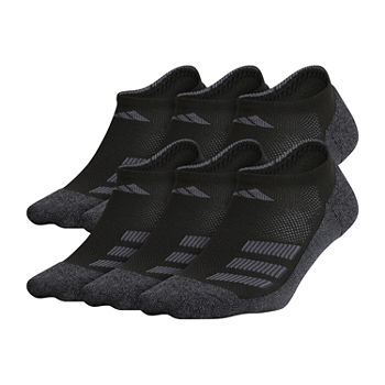 adidas Big Boys 6 Pair No Show Socks