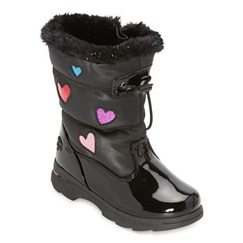 Totes Toddler Girls Sweetheart Waterproof Flat Heel Winter Boots