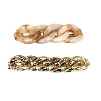 Mixit Gold Link Hair Clip 2-pc.