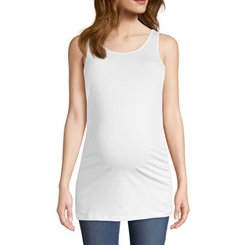 Belle & Sky Womens Scoop Neck Sleeveless Tank Top Maternity