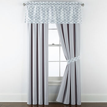 JCPenney Home Reverie Light-Filtering Rod-Pocket Single Curtain Panel