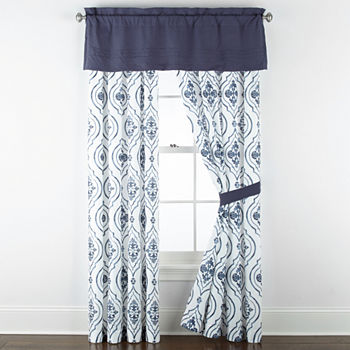 JCPenney Home Egan Light-Filtering Rod-Pocket Single Curtain Panel