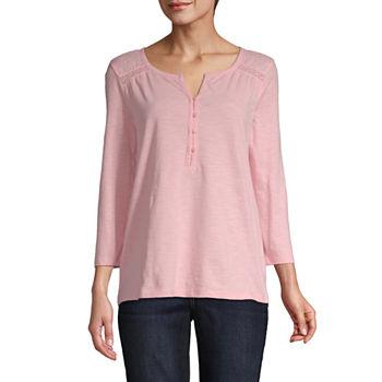 7d5680d613e6e Henley Shirts Tops for Women - JCPenney
