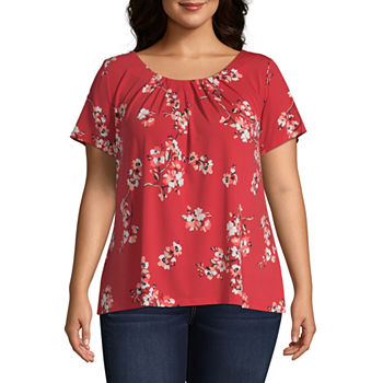 528ea04549 Plus Size Tops for Women - JCPenney