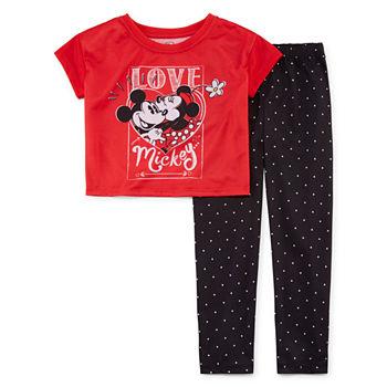 Disney Girls 2 pc. Minnie Mouse Pajama Set Toddler
