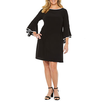 MSK 3/4 Sleeve Sheath Dress - Plus