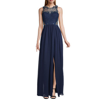 City Triangle Juniors Sleeveless Embellished A-Line Dress