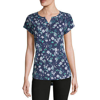 9182a506bf8a2f Liz Claiborne Green Tops for Women - JCPenney