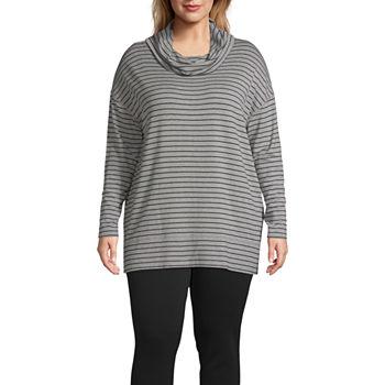 9c521de4785 Plus Size Cowl Neck Tops for Women - JCPenney