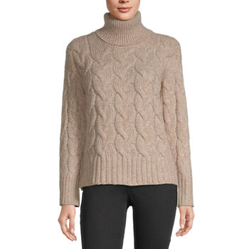 a.n.a-Talls Womens Turtleneck Long Sleeve Pullover Sweater