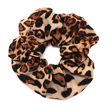 Mixit Leopard Print Oversized Scrunchie Hair Ties