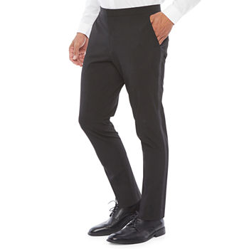 JF J.Ferrar Crop Ankle Mens Slim Fit Tuxedo Pants