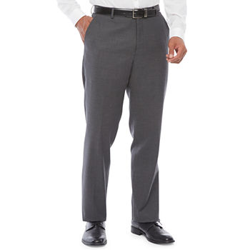 Stafford Mens Striped Stretch Classic Fit Suit Pants