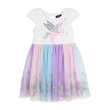 Lilt Toddler Girls Short Sleeve Tutu Dress