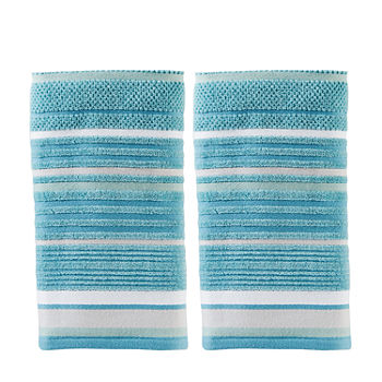 Saturday Knight Neutral Nuances Seabrook Stripe  2-pk Hand Towels