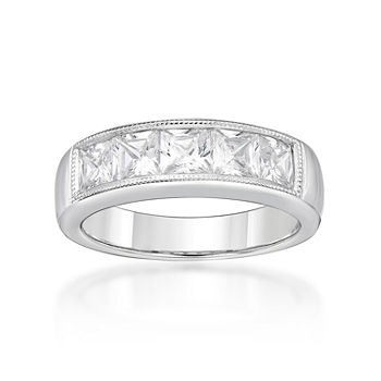 DiamonArt® 3.5MM 2 CT. T.W. White Cubic Zirconia Sterling Silver Band