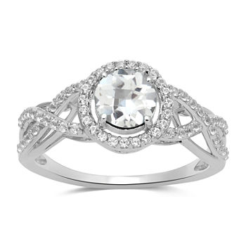 LIMITED TIME SPECIAL! Lab Created White Sapphire Ring in Sterling Silver