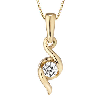 Sirena™ Diamond-Accent Solitaire Pendant Necklace