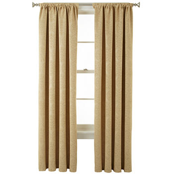 Home Expressions Blackout Rod-Pocket Single Curtain Panel