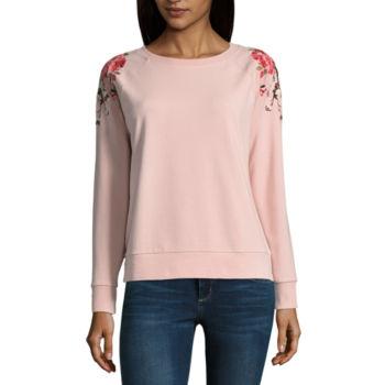 Only Off Shoulder Long Sleeved Top Women Pink