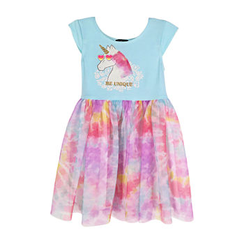 Lilt Toddler Girls Sleeveless Cap Sleeve Tutu Dress